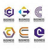 C Letter Logo Design Vector Illustration Logo Set, C Letter Logo Vector, Letter C Logo Vector, Creat poster