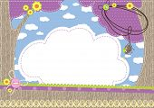 image of baby spider  - Baby background.  Vector contains the used patterns. - JPG