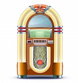 image of jukebox  - Vector illustration of retro style detailed classic juke box - JPG