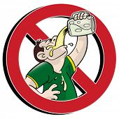 picture of chug  - No drinking prohibition sign - JPG