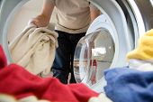 picture of washing-machine  - Preparation for washing - JPG
