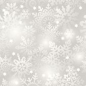 Snowflake seamless background - vector pattern for continuous replicate. See more seamlessly backgro