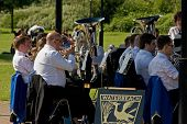 ELY, CAMBS, UK - JULY 2012 - Waterbeach Brass perform at Jubilee Gardens - editorial use
