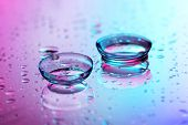 stock photo of personal hygiene  - contact lenses - JPG