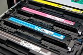 image of cartridge  - Cartridges of color laser multifunction printer