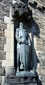 foto of braveheart  - statue of william wallace in the castle of edinburgh - JPG