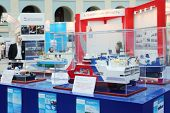 MOSCOW - MAY 23: Ship models for geological exploration at Russia Marine Industry Conference 2012 in