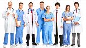 image of medical doctors  - Smiling medical people with stethoscopes - JPG