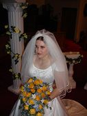 picture of cleaving  - Photo of Bride with bouquet at a traditional wedding - JPG