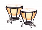 Two Beautiful Classical Timpani On White Background