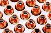image of hollow point  - Hollow point bullets isolated with white background. Used in firearms for self defense shooting. Also use by police and military.