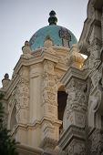 picture of assis  - Ornate Carvings Steeple Mission Dolores Saint Francis de Assis San Francisco California