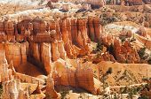 stock photo of hoodoo  - spectacular Hoodoo rock spires of Bryce Canyon Utah USA - JPG