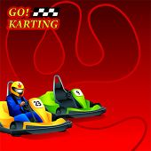 Go! Karting race ad poster or leaflet design