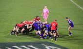 Super Rugby-Spieler Scrum