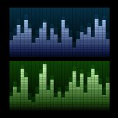 picture of waveform  - Equalizer vector background - JPG