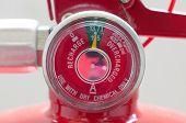 pic of gage  - close up chemical gage of Fire Extinguisher - JPG