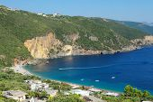 view of Parga Lichnos Bay in Greece