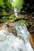 image of avalanche  - Avalanche Falls in the Flume Gorge - JPG