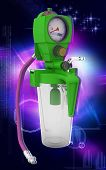 picture of suction  - Digital illustration wall suction units  in colour background - JPG