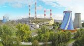 picture of chp  - Central Heating and Power Plant at sunny day - JPG