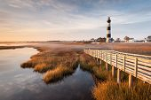 North Carolina Bodie Island Lighthouse Scenic Landscape