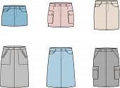 pic of jeans skirt  - Vector illustration - JPG