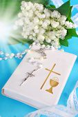 picture of rosary  - white prayer book  - JPG