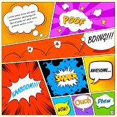 pic of strip  - illustration of colorful comic speech bubble in vector - JPG