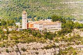 stock photo of benediction  - Aerial view at Saint Benedict Monastery - JPG