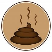 stock photo of turds  - Shit icon on white background  - JPG