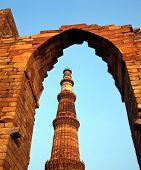 picture of qutub minar  - Qutub Minar Mosque (The worlds tallest free standing minaret) Old Delhi Delhi Union Territory India.