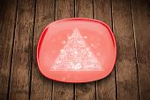 picture of food pyramid  - Hand drawn food pyramid on colorful dish plate and grungy background - JPG