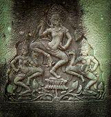 stock photo of mural  - Angkor Wat Cambodia - JPG