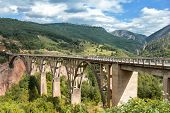 foto of yugoslavia  - Durdevica Tara Bridge over the Tara River in northern Montenegro - JPG