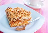stock photo of pie  - apple pie on the white table - JPG