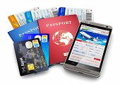 picture of boarding pass  - Air tickets or boarding pass - JPG
