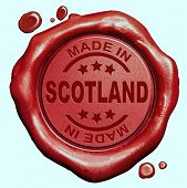 stock photo of wax seal  - Made in Scotland red wax seal or stamp - JPG