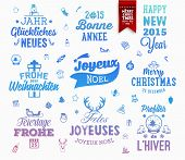 stock photo of weihnachten  - Christmas Decoration Set of Calligraphic and Typographic Design - JPG