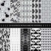 foto of apparel  - Collection of 10 geometric seamless pattern background - JPG