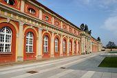 Historic facade of museum Filmmuseum in Potsdam, Germany poster