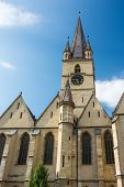 foto of sibiu  - The Lutheran Cathedral of Saint Mary was built in 1530 and is the most famous Gothic - JPG