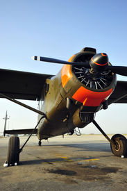 stock photo of workhorses  - The Canadian Max Holste 1521M vintage workhorse aircraft - JPG