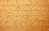 picture of hieroglyph  - Egyptian hieroglyphs on the wall - JPG