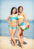 picture of beach-ball  - summer holidays - JPG