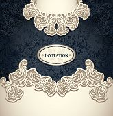 picture of perfume  - Template vintage background in pearly beige black colors for invitation or congratulation or package perfumer - JPG