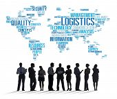 stock photo of production  - Logistics Management Freight Service Production Concept - JPG