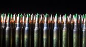 picture of cartridge  - Cartridges with some of them having green tips on the bullets - JPG