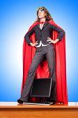 picture of superwoman  - Businesswoman in superwoman concept - JPG