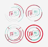 picture of neat  - Thin line neat design logo set - JPG